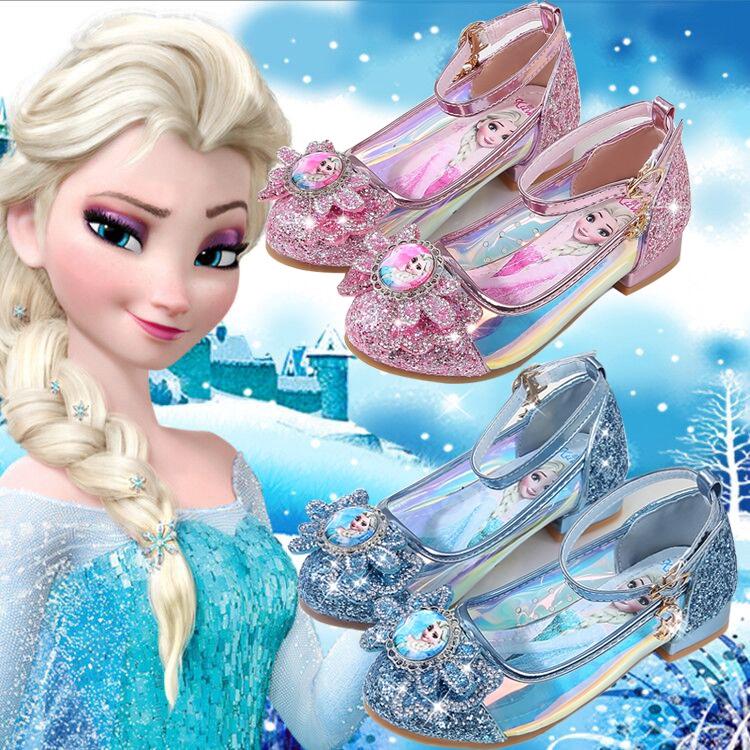 Mahkota Elsa Sepatu Anak Perempuan Princess Pesta Sepatu Hak