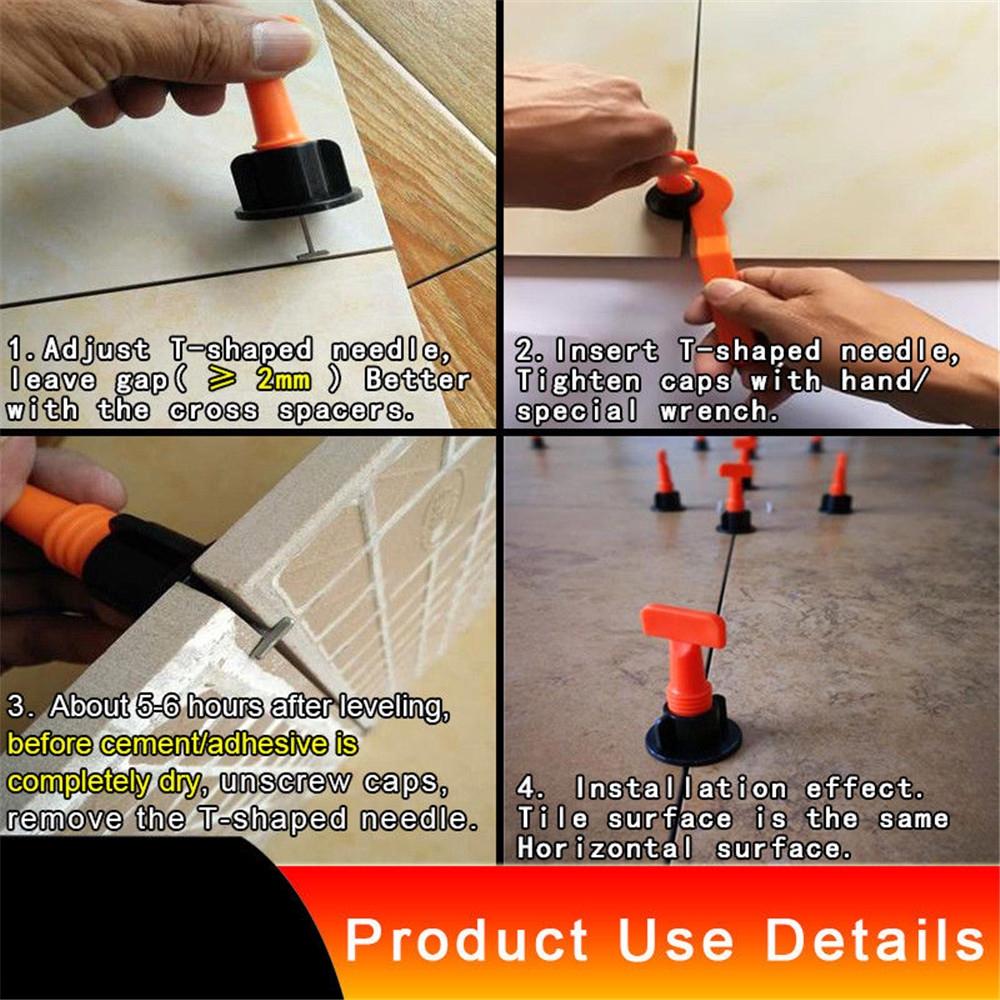 1//2//3set Reusable Tile Leveling Positioning System Leveler T-lock Floor Tools