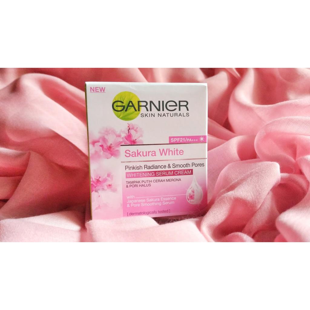 Garnier Sakura White Whitening Cream Day Spf21 18 Ml Shopee Indonesia 18ml