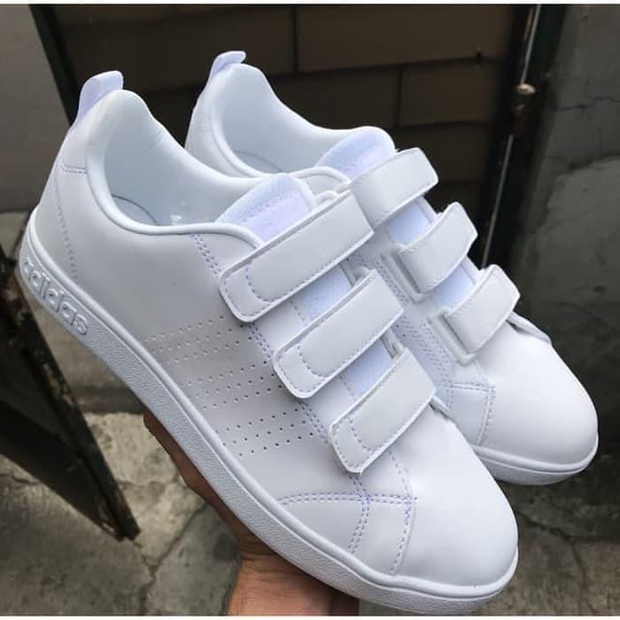 Promo Adidas Neo Advantage Velcro Full White Original Indonesia