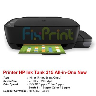 Hp Ink Tank 315 Printer Infus All In One Shopee Indonesia