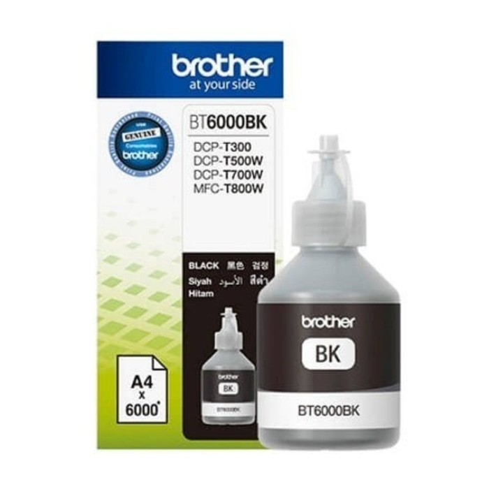 Brother BT6000BK Tinta Printer - Ink Cartridge Black BT-6000BK J746 | Shopee Indonesia