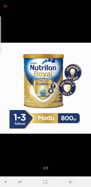 Nutrilon Royal 3 Rasa Vanilla & Madu 800 GR