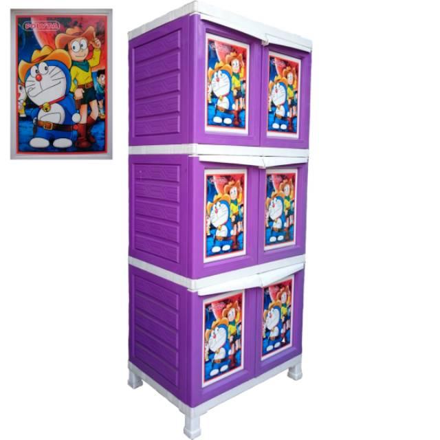 Lemari Pakaian Plastik Jumbo 6 Pintu Doraemon Shopee Indonesia