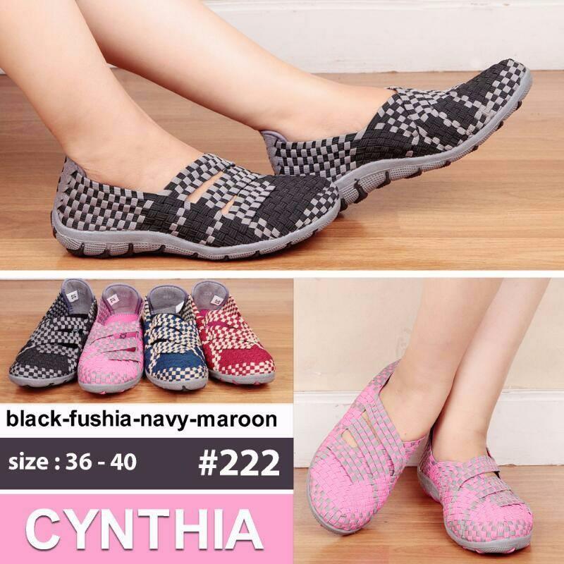 Sepatu rajut anyam original Cynthia / bernice tipe HR035   Shopee Indonesia