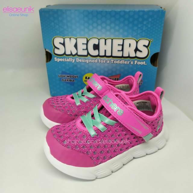 Sepatu Anak Skechers Comfy Flex Sparkle Dash Original Shopee
