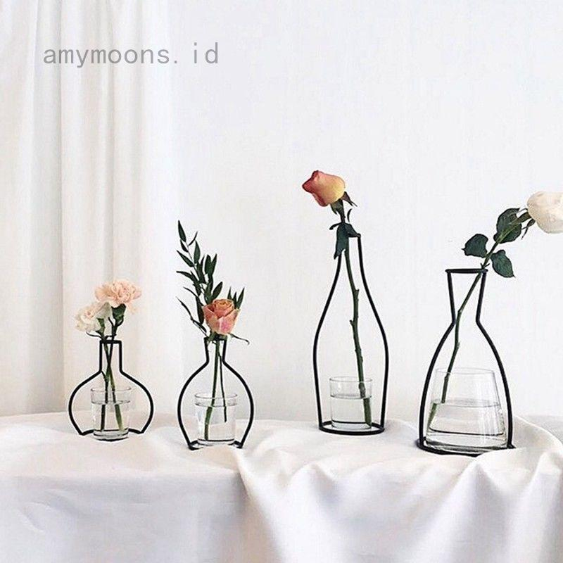 Vas Bunga Tanaman Dengan Bahan Logam Warna Hitam Dan Bergaya Vintage Untuk Dekorasi Rumah Shopee Indonesia
