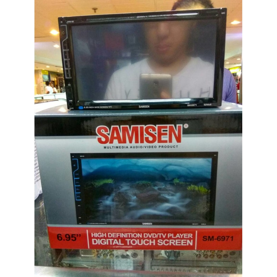 "Samisen SM-6970 - 6.95"" Double Din Dvd/Tv Monitor Touch Screen 