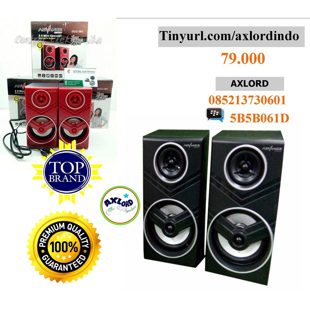 Speaker Advance Duo 080 Mega Bass Original New Shopee Indonesia 300 Komputer