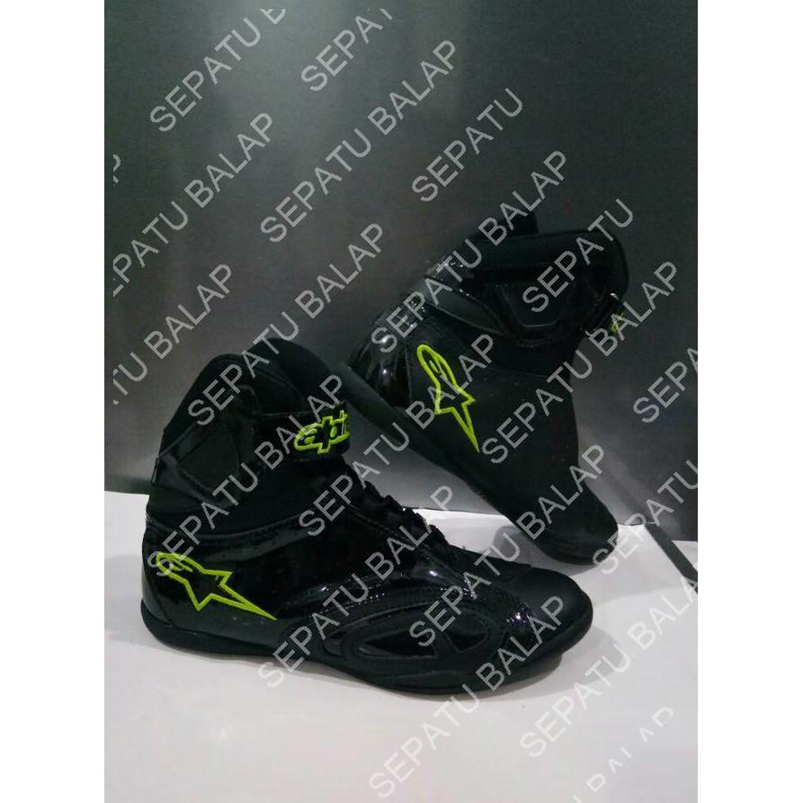 Sepatu Drag Alpinestar Hijau Stabilo Replika   Grosir Sepatu Motor Touring  Bikers  a7c13f765b