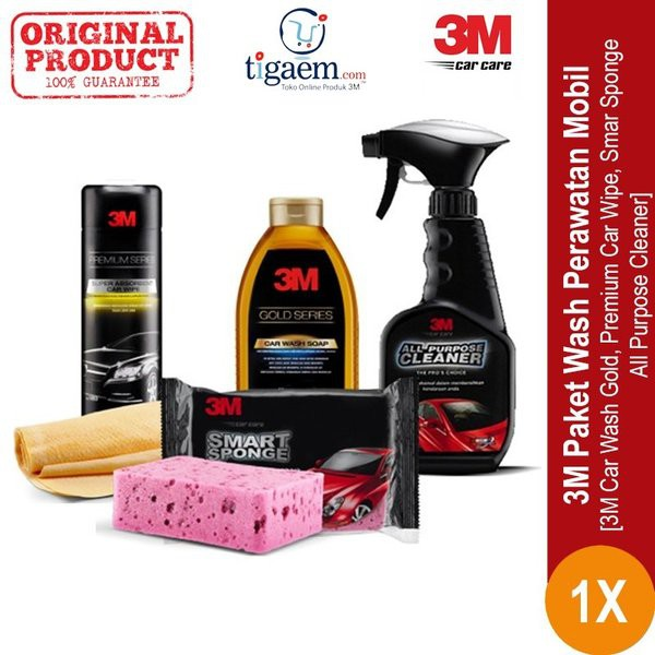 3m Paket Wash Perawatan Mobil Shampoo Spons Lap Shampo Mobil 4pc Set New Shopee Indonesia