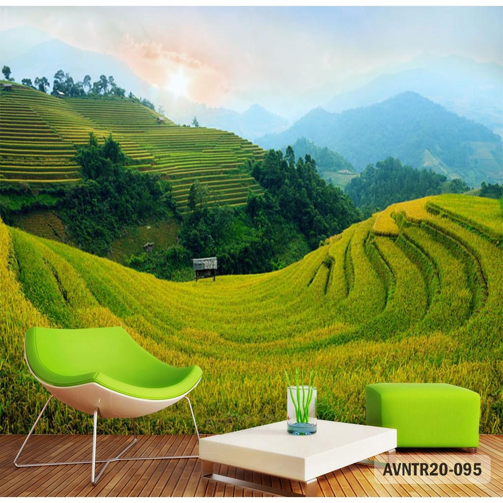 PROMO WALLPAPER DINDING PREMIUM- Wallpaper Dinding Pemandangan Alam- Wallpaper  Sawah-Wallpaper Alam | Shopee Indonesia