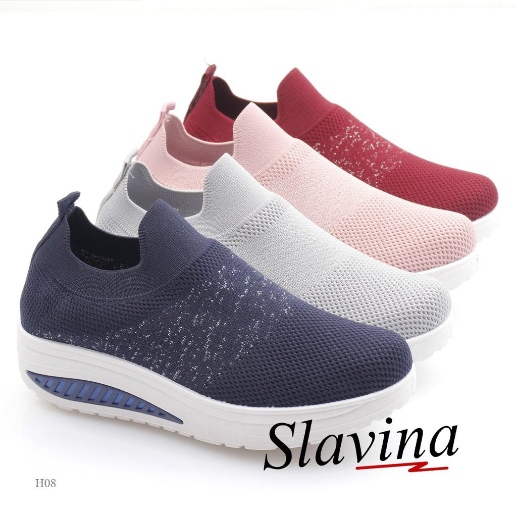 Sepatu Wedges Slavina Flyknit Md H08 Gudang Sepatu Sepatu