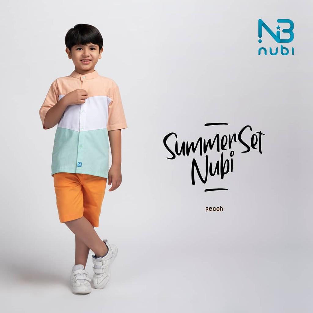 Setelan Baju Anak Laki-laki Summerset Peach Size M by NuBintang