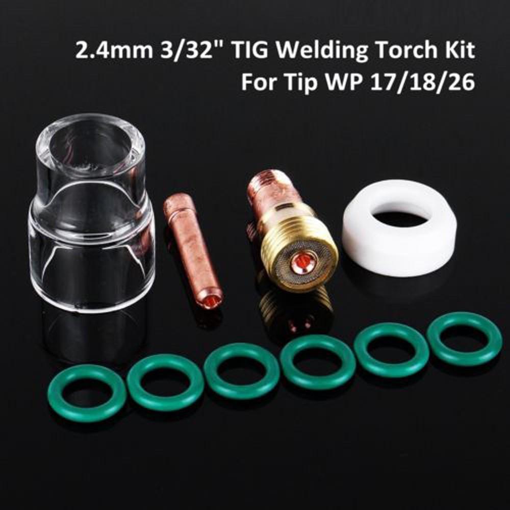 Welding Tool Kit 6Pcs//Set Gas lens Cup TIG Welding Heat-Resistant New Sale 2018