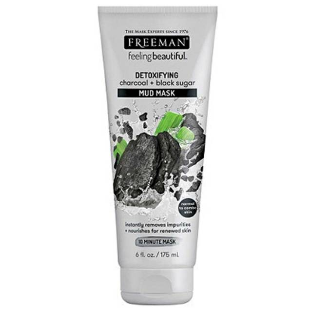 Freeman Feeling Beautiful Face Mask, Detoxifying Charcoal & Black Sugar Mud (kemasan Putih)   Shopee Indonesia