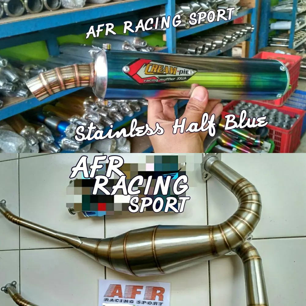 Knalpot Rx King Kolong Creampie Stainless Shopee Indonesia Racing Stenlis