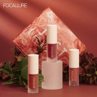 Focallure 3 Shades Set Lipstik Cair Matte Beludru Tahan Air Tahan Lama thumbnail