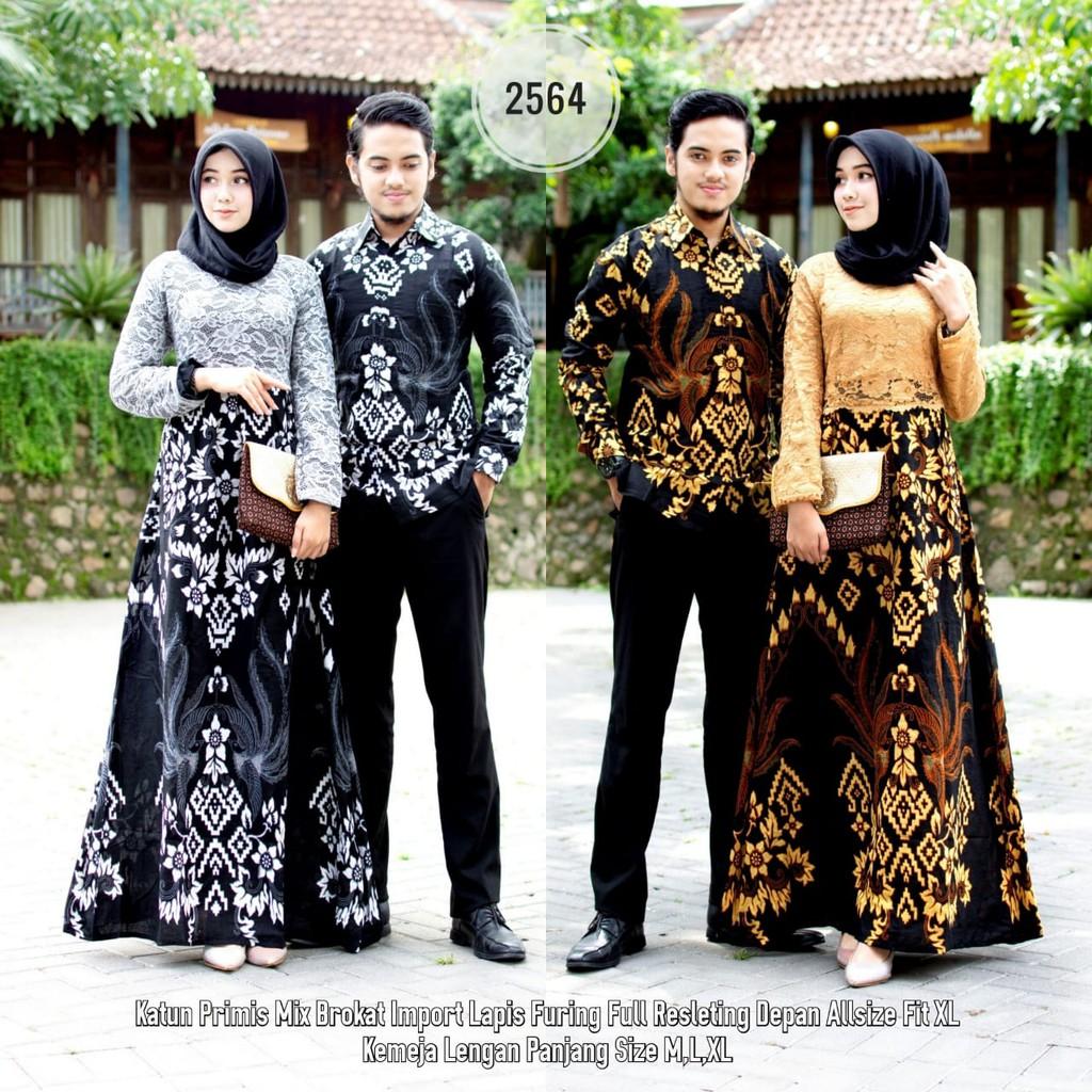 Batik Couple Gamis Brokat 8