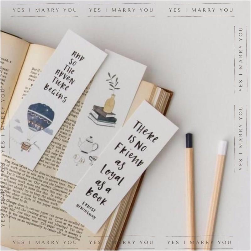 Bisa Custom Request Pembatas Buku Planner Boju Bookmark Aesthetic Kaktus Whale Paus Shopee Indonesia