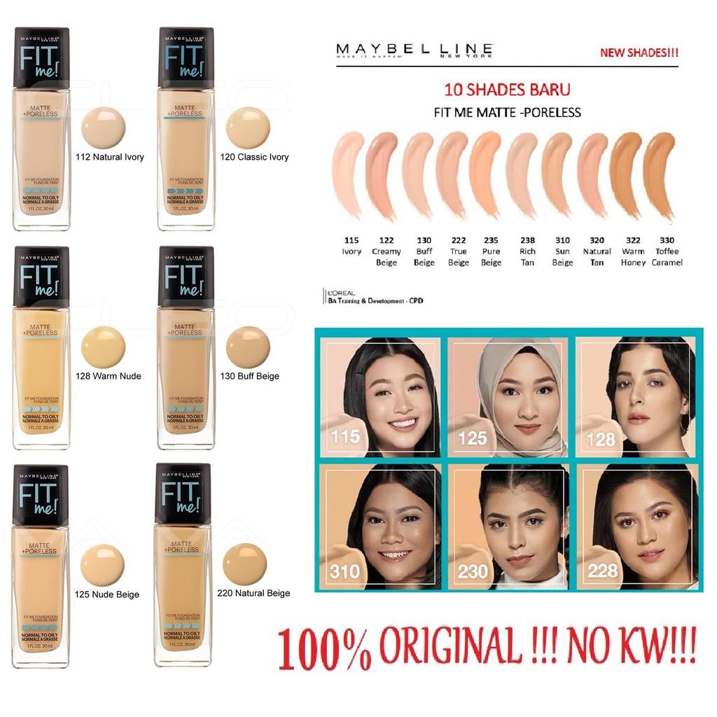 Maybelline Fit Me Matte Poreless Foundation 30ml Botol Maybelline Fit Me Dewy Smooth Foundation Shopee Indonesia