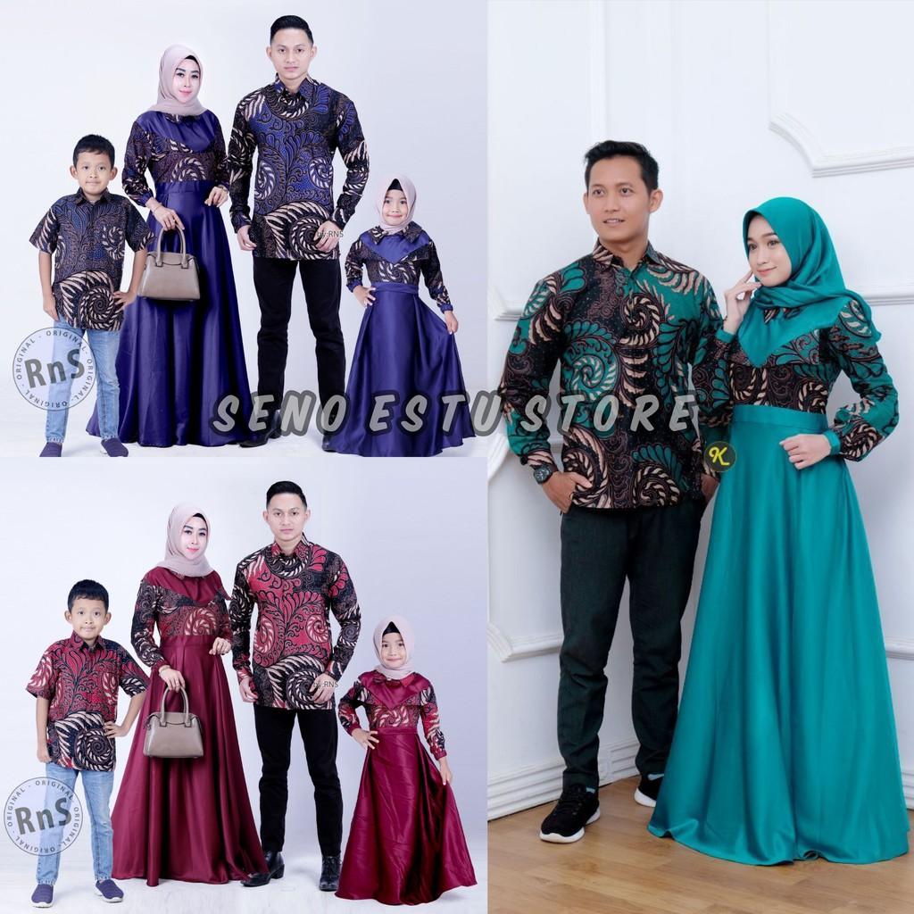 COUPEL GAMIS FAMILI Batik keluarga,SARIMBIT IBU AYAH DAN ANAK,BAJU COUPLE  BATIK MURAH SERAGAM TRIBAL