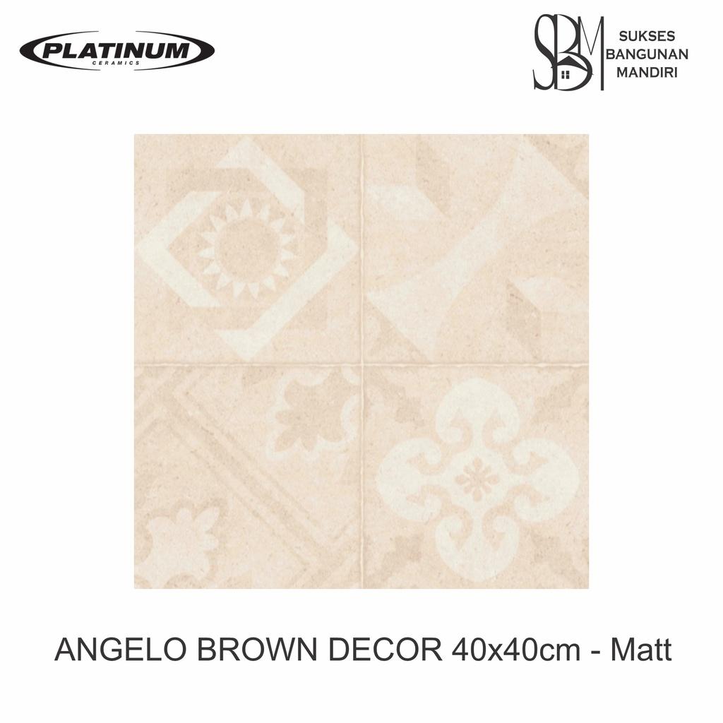 Platinum Ceramic - ANGELO BROWN DECOR - 40x40cm - Matt