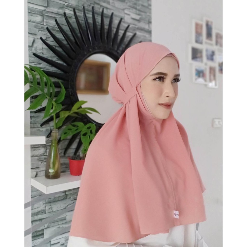 Jilbab Kerudung Bergo Tali Aisyah Instant Grosir Jilbab Instan Murah Wanita Shopee Indonesia