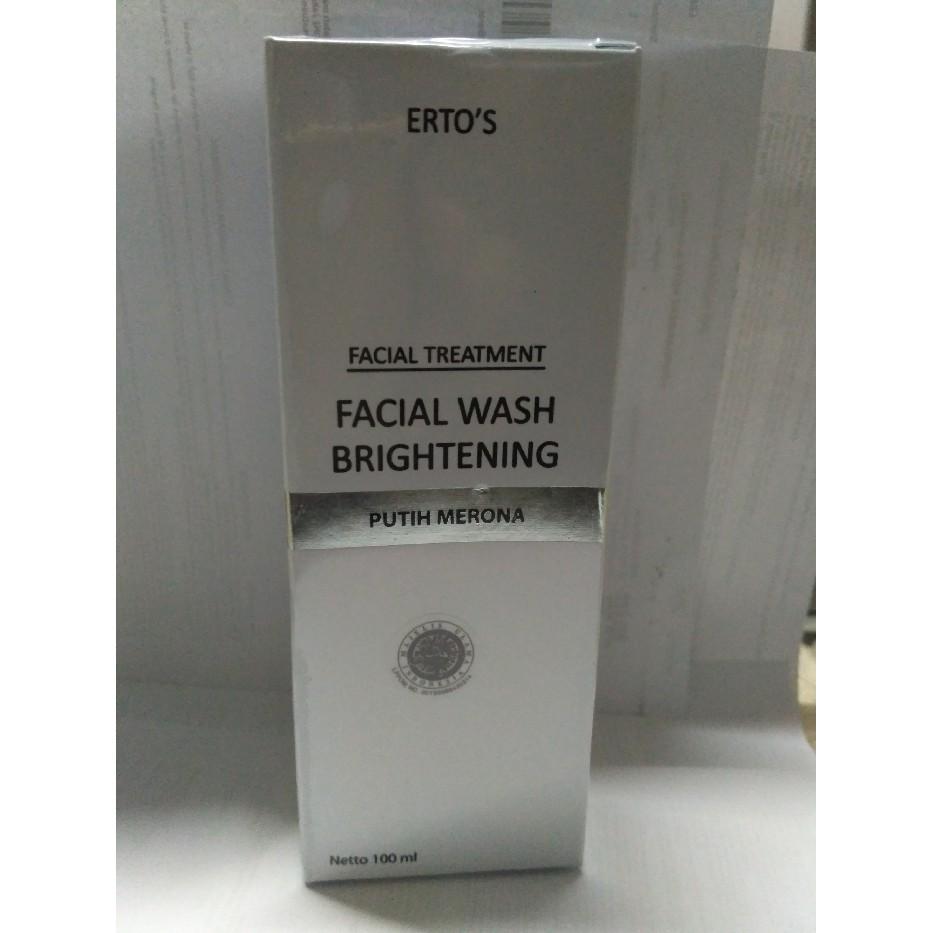 Ertos Facial Refreshner Brightening Toner Original Erto 100 Ml Bpom Skincare Kf 89 Wash Shopee Indonesia