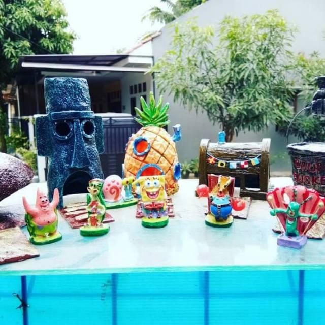 Aksesoris Aquarium Spongebob Dkk Unik Shopee Indonesia