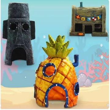 Hiasan Aquarium Sponge Bob Spongebob Patrick Squidward Decoration Shopee Indonesia