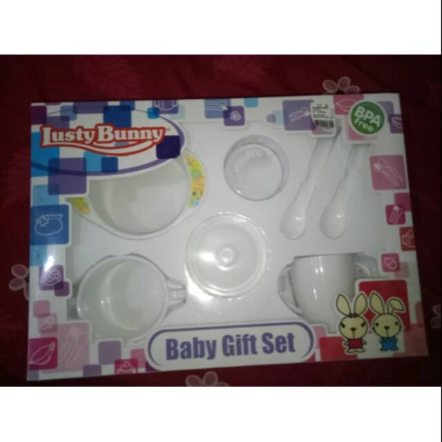 feeding set nd isi 5pcs warna medium lusty bunny [LB-1417] | Shopee