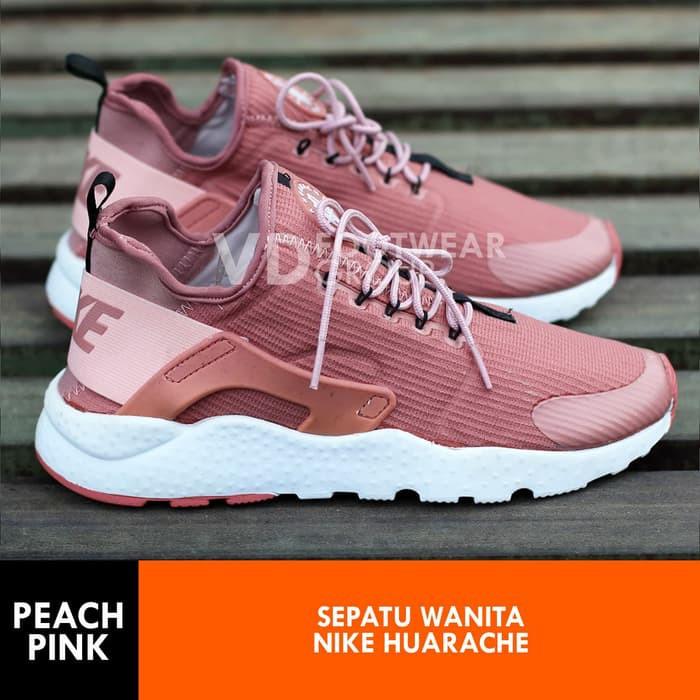 Sepatu Wanita Nike Huarache Women Peach Pink Best Seller