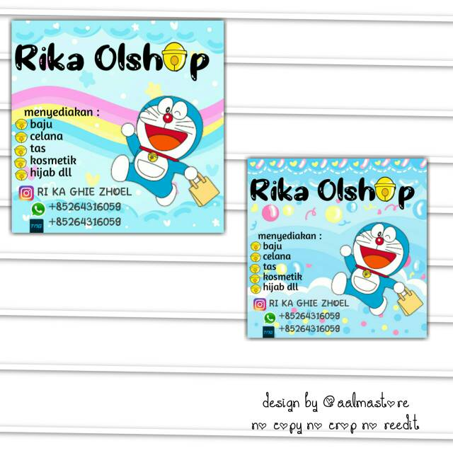 Contoh Spanduk Olshop Doraemon - desain banner kekinian