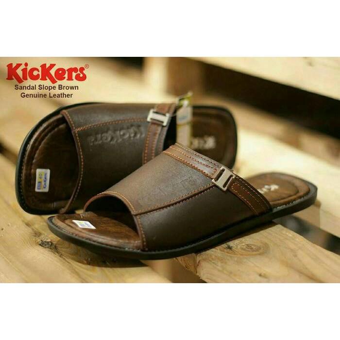 Sandal Pria Kulit Kickers - Kualitas Bagus - AURORA Mall 07  01ab92b506
