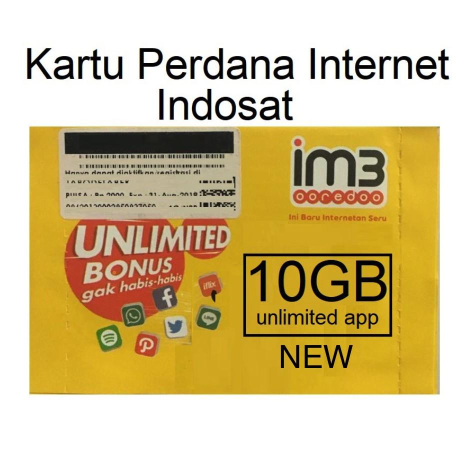 Indosat Kartu Perdana Internet Data 23gb Shopee Indonesia Im3 108gb Full 24 Jam