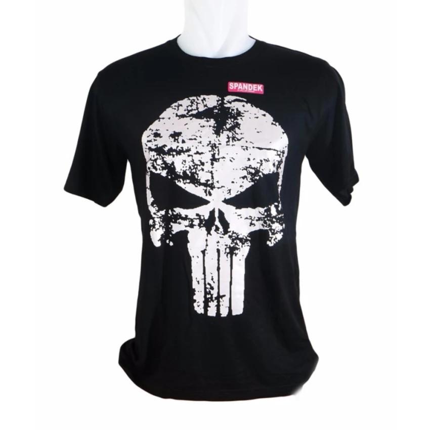 Kaos Pria / Distro Premium / T-shirt Cowok Skull Tengkorak - Hitam - Vanwin | Shopee Indonesia