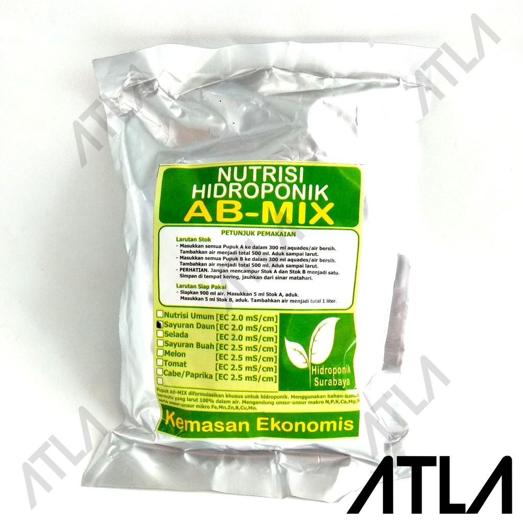 Pupuk Nutrisi Hidroponik AB Mix Wolulas Sayur Daun 500 Ml | Shopee Indonesia