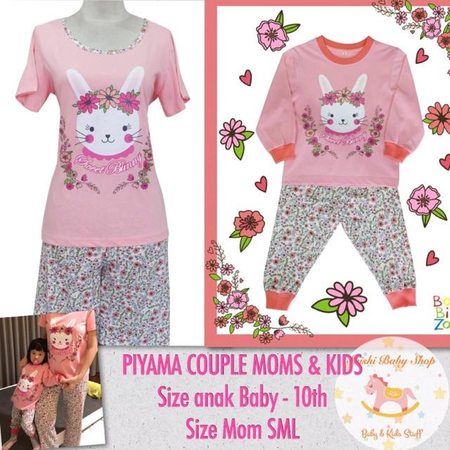 Piyama Couple Ibu Dan Anak Baju Tidur Kembar Mami Anak Piyama Kembaran Bunda Anak Perempuan