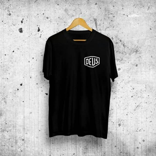 Kaos Deus Ex Machina Logo Dada Kiri Hitam Shopee Indonesia