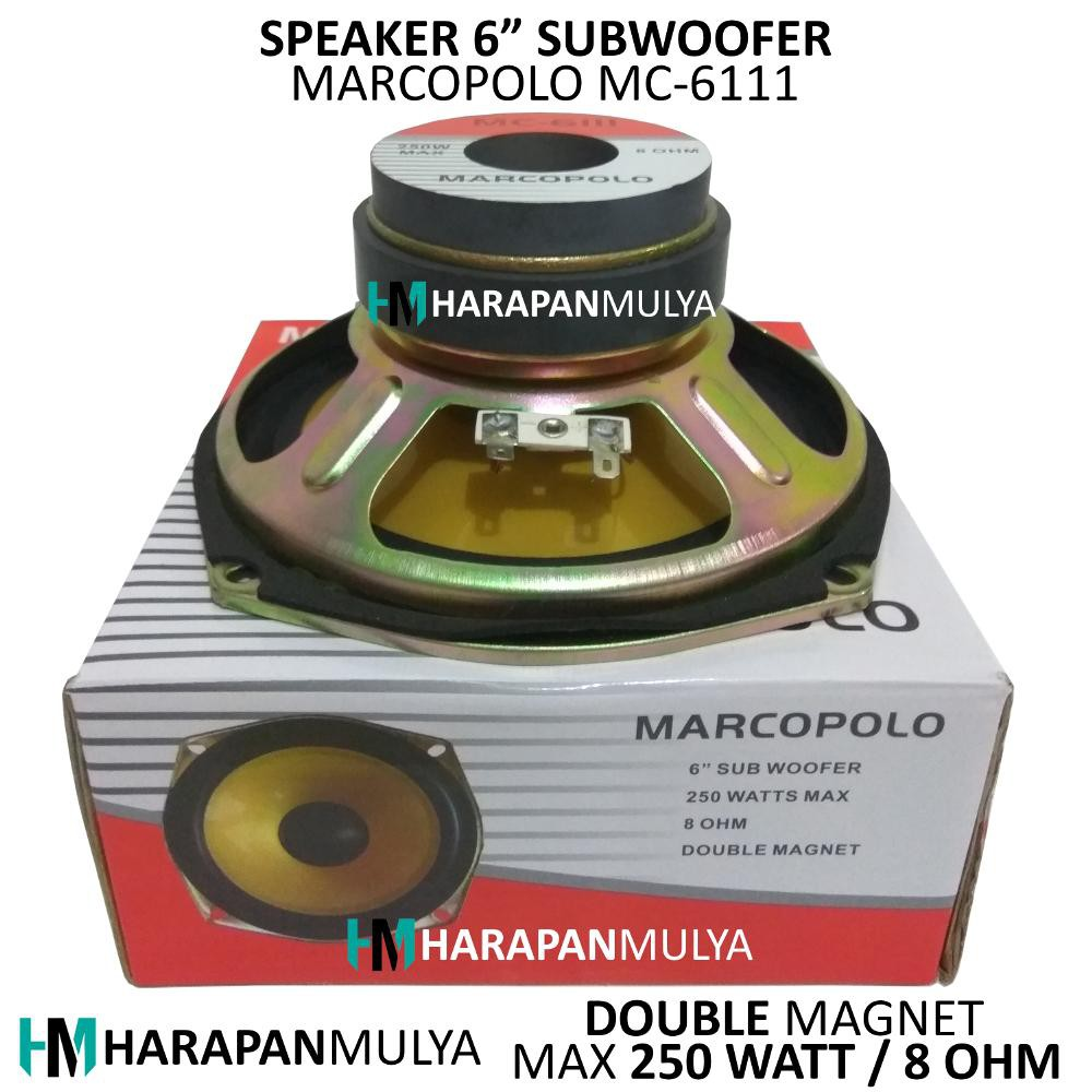 Speaker Subwoofer 5 Inch Double Magnet Marcopolo Mc 5111 Advance T101 Kf Guling Shopee Indonesia