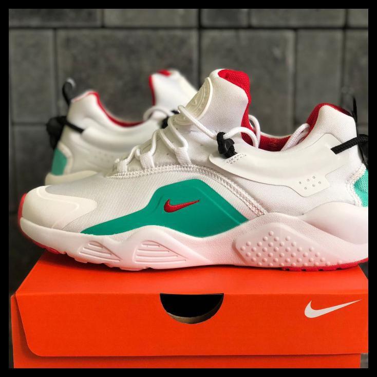 Sepatu Nike Air Huarache City Move White Bright Crimson Premium