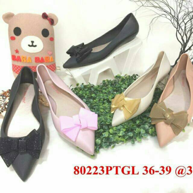 Jelly shoes barabara sepatu wanita flat shoes bara bara karet import 80223pzd | Shopee Indonesia