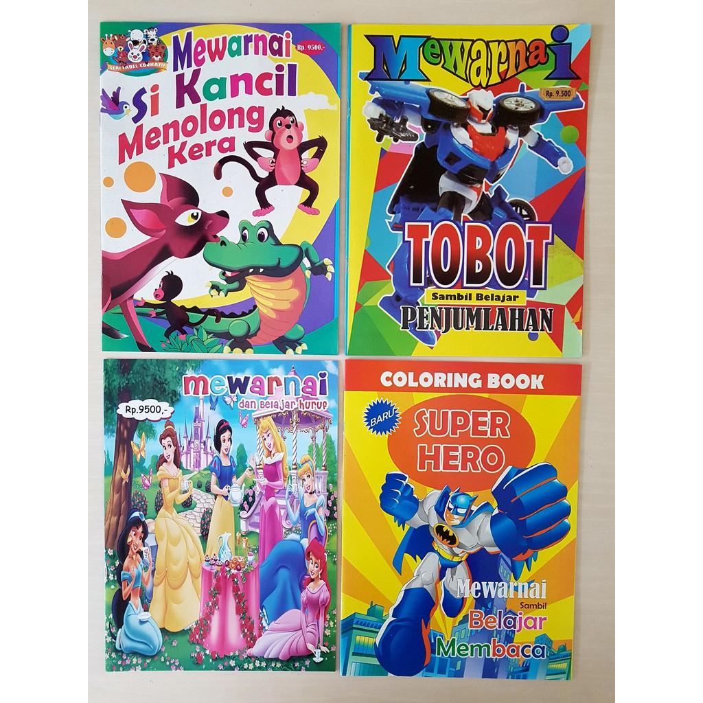 Buku Edukasi Mewarnai Princess Tobot Super Hero Kancil