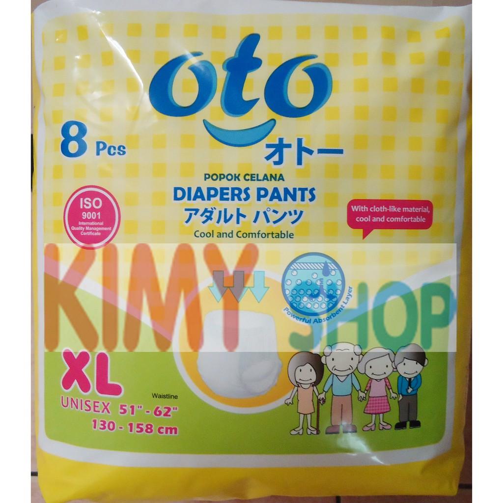 Popok Dewasa Celana Oto Xl Diapers Pants Shopee Indonesia Adult Diaper L8