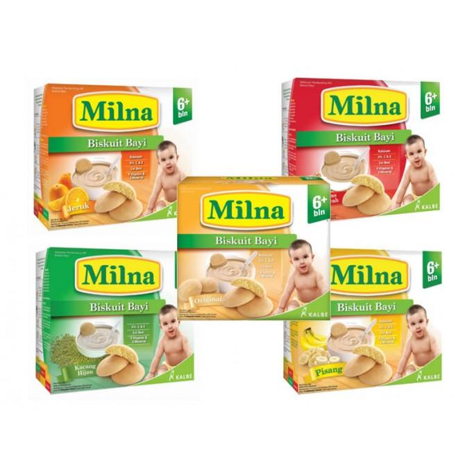 Biskuit Milna Rasa Beras Merah Kacang Hijau Orange Original