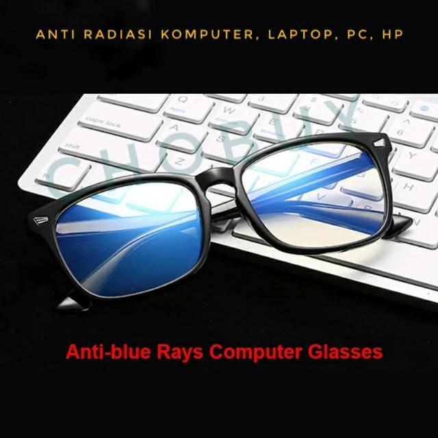 Kacamata anti radiasi handphone dan komputer fashion trendy persegi coklat  gaya korea  9cc5a84b6d