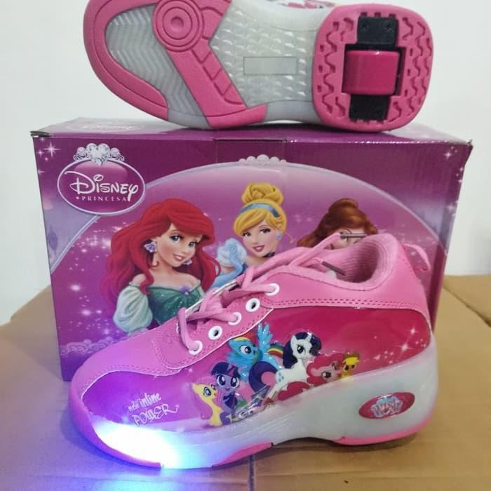 Promo Sepatu Roda Lampu 1 Little Pony Kuda Poni Import Murah