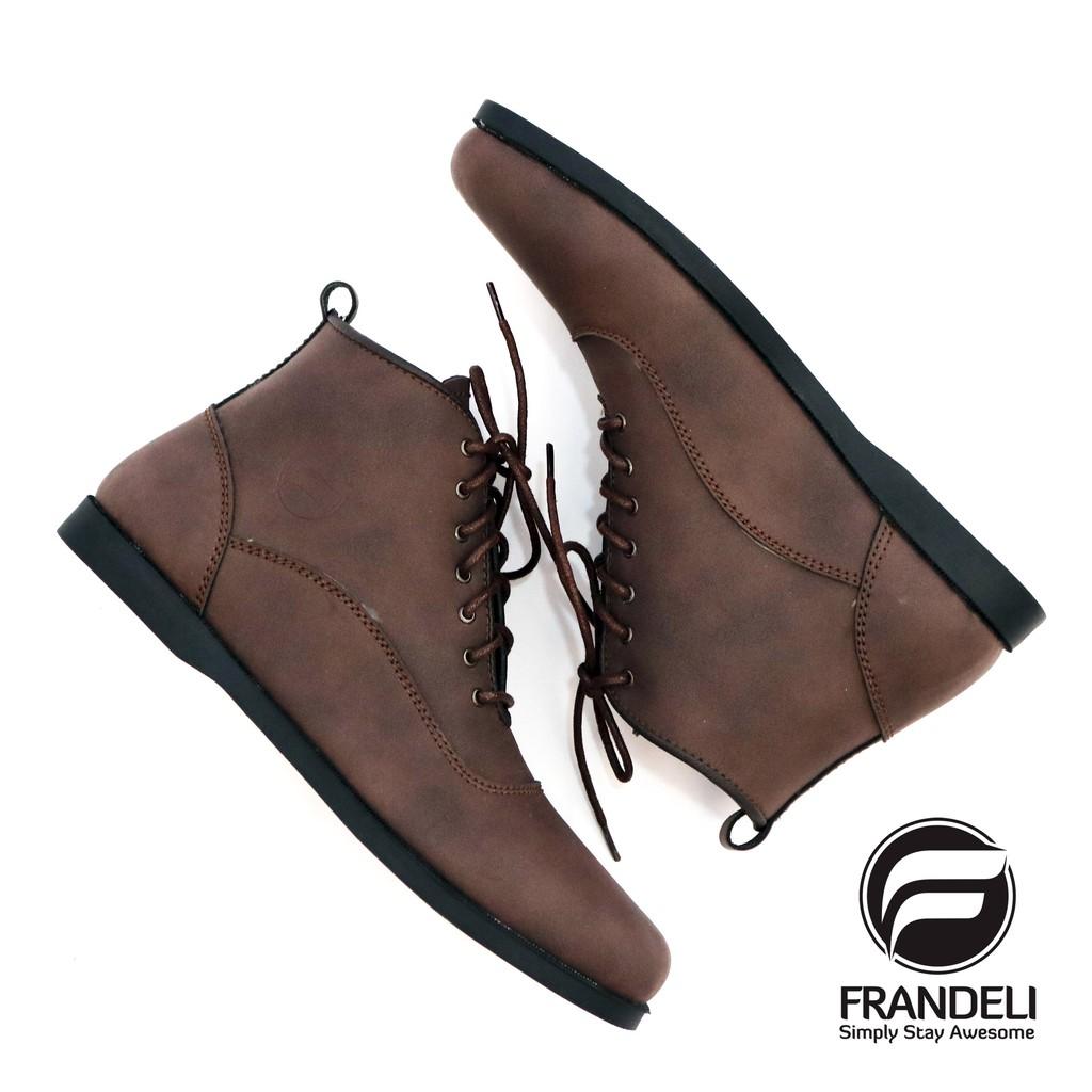 FRNDL - Sepatu Boots Pria Klasik Zipper Resleting For Work Kasual Kerja  Semi Kulit Original  97edb39946