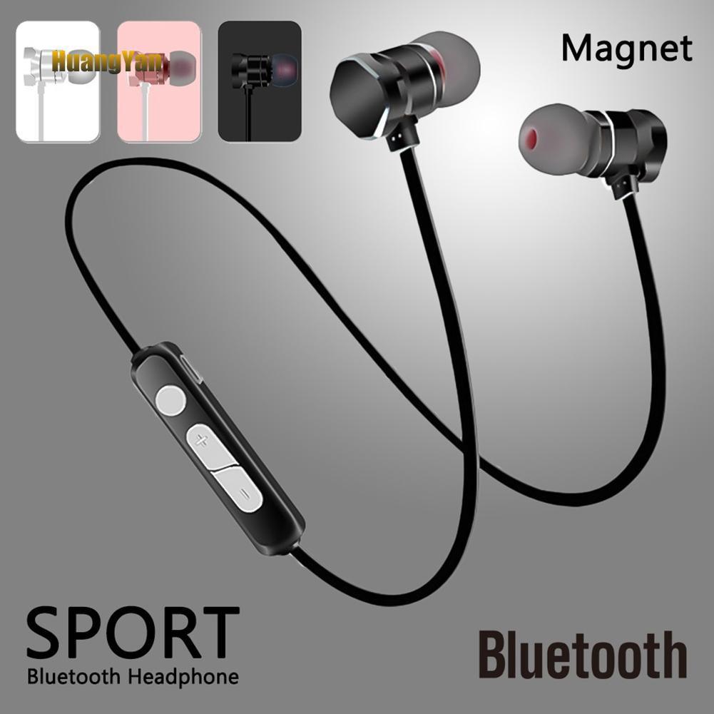 Earphone Stereo Sport Wireless Bluetooth untuk iPhone Samsung   Shopee Indonesia